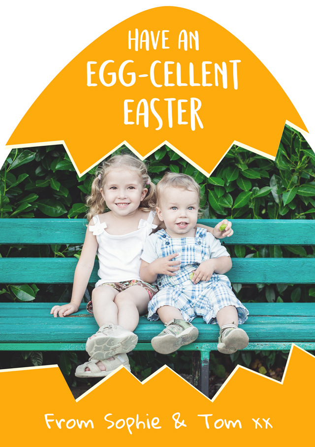 Create a Egg Cellent Easter Photo Card