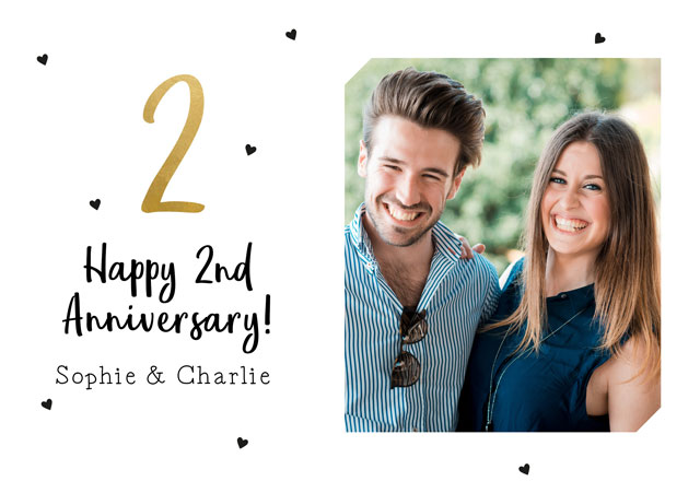 Create a 2nd Anniversary Photo Card