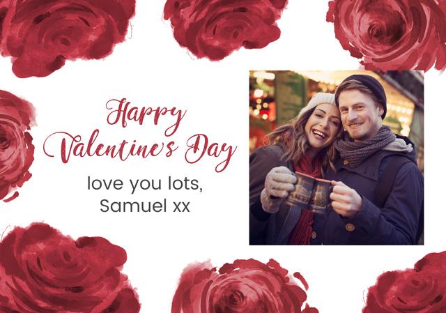 Create a Roses Border Greeting Card