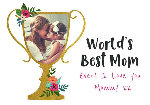 Create a World's Best Mom (Usa) Greeting Card