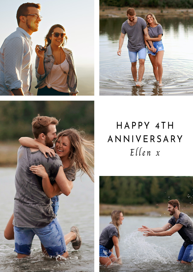 Anniversary 4 Photo Collage Card