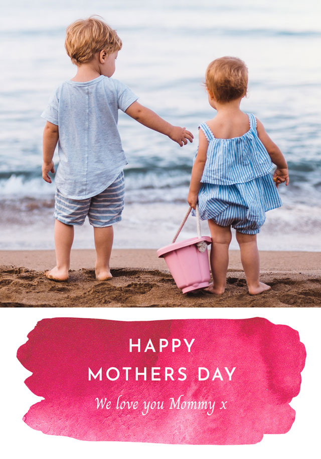 Create Photo Mother's Day Card Watercolour Card