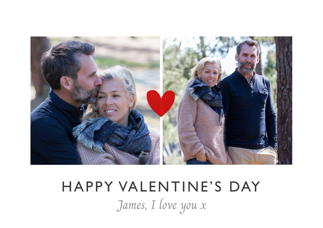 Create a Photo Card Valentines Mini Red Heart Photo Card