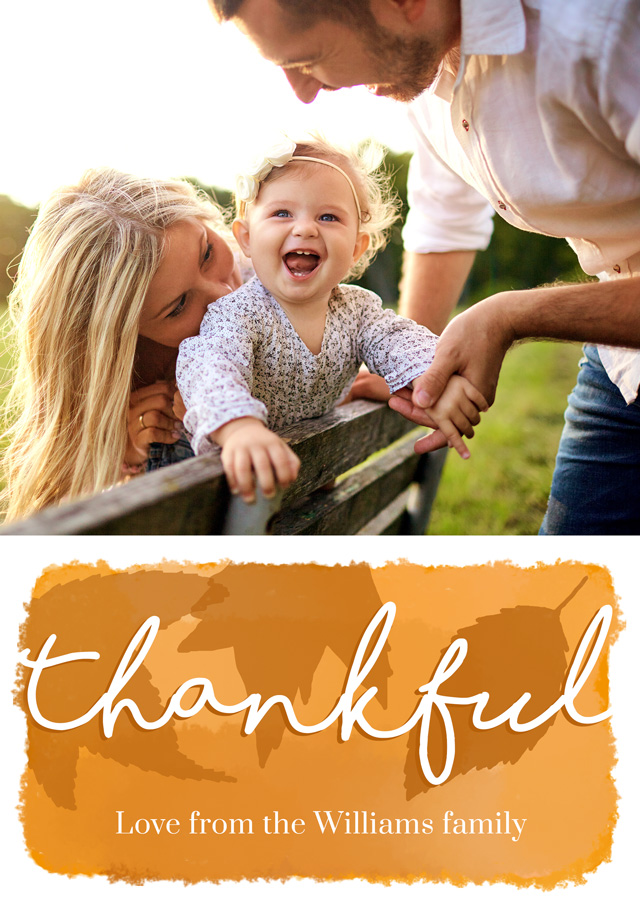 Photo Thank You Card Thankful