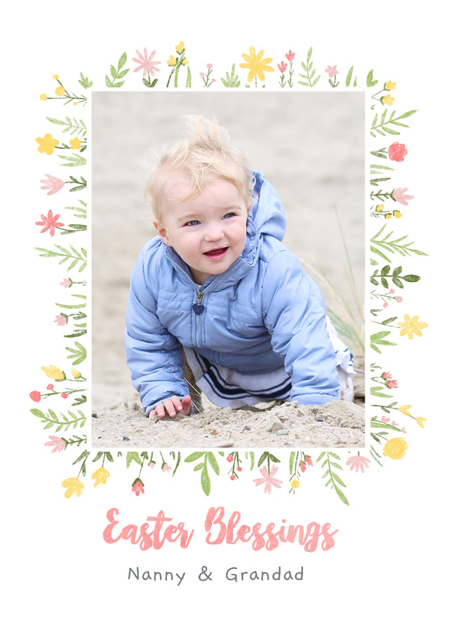 Create Photo Easter Card Blessings Card
