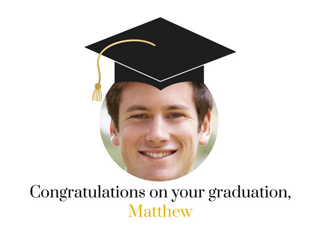 Create a Graduation Face In Hole Greeting Card