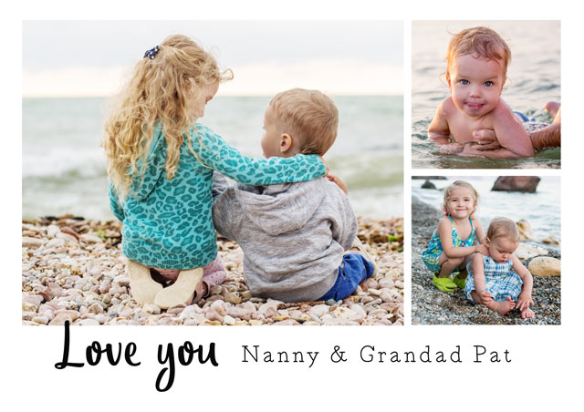 Create a Love You Grandparents Greeting Card
