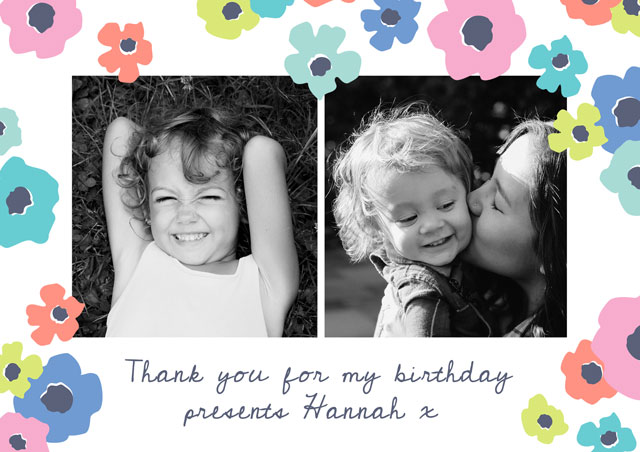 Create a Photo Thank You Card Collage Cosmos Photo Card
