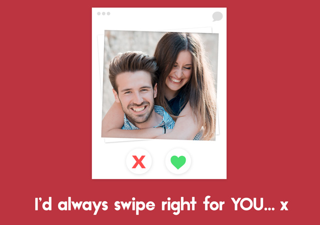 Create Photo Card Valentines Tinder Card