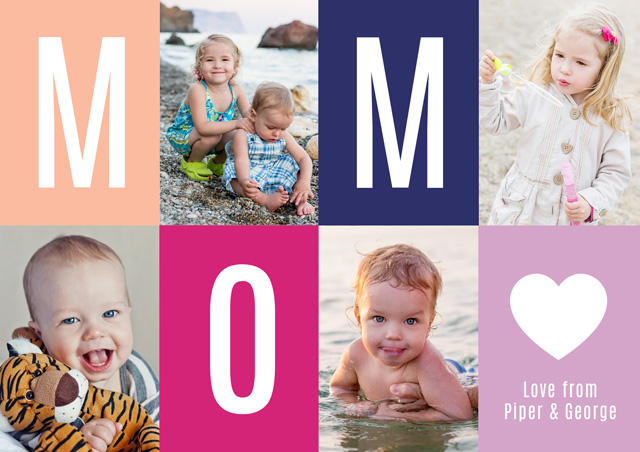Create a Photo Mother's Day Card Mom Heart Photo Card
