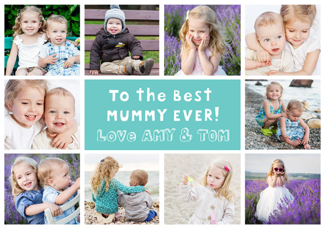 Create a 10 Collage Mum Greeting Card