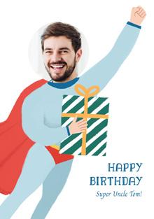 Create a Photo Birthday Card Superman  Photo Card