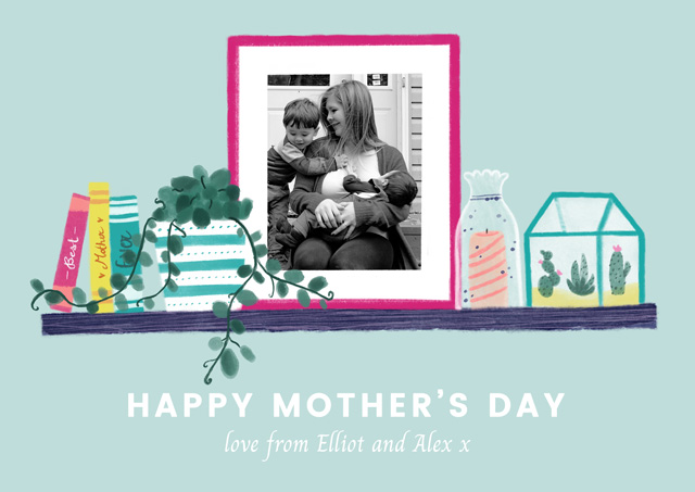 Create Photo Mother's Day Card Photo Frame Card