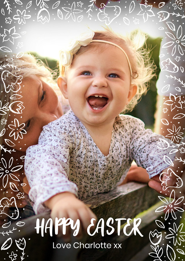Create Photo Easter Card Script Card