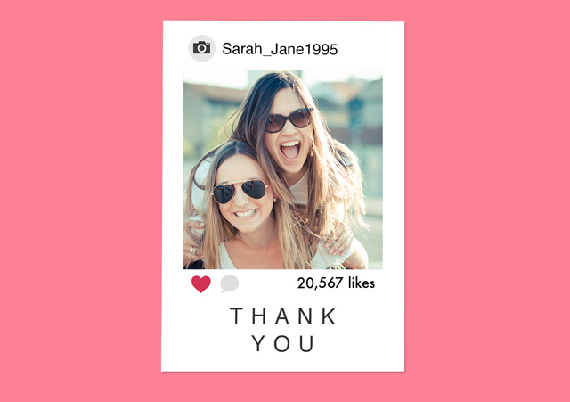 Create a Photo Thank You Card Instagram Photo Card
