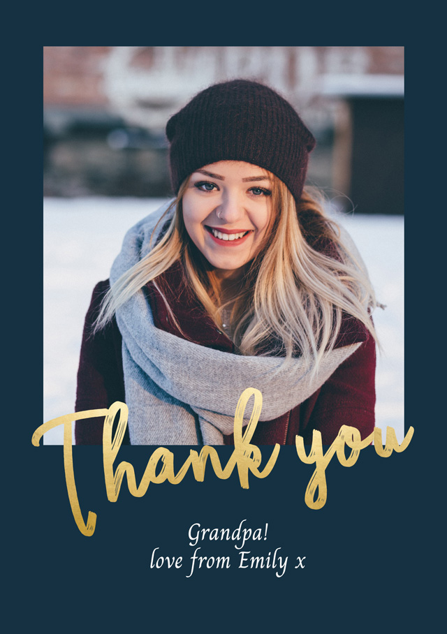 Create a Photo Thank You Card Contemporary Photo Card