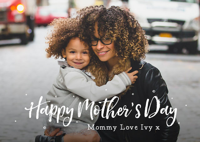 Create a Photo Mother's Day Card Script Overlay Photo Card
