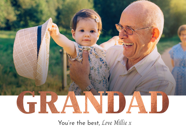 Create a Photo Father's Day Card Grandad Foil Photo Card