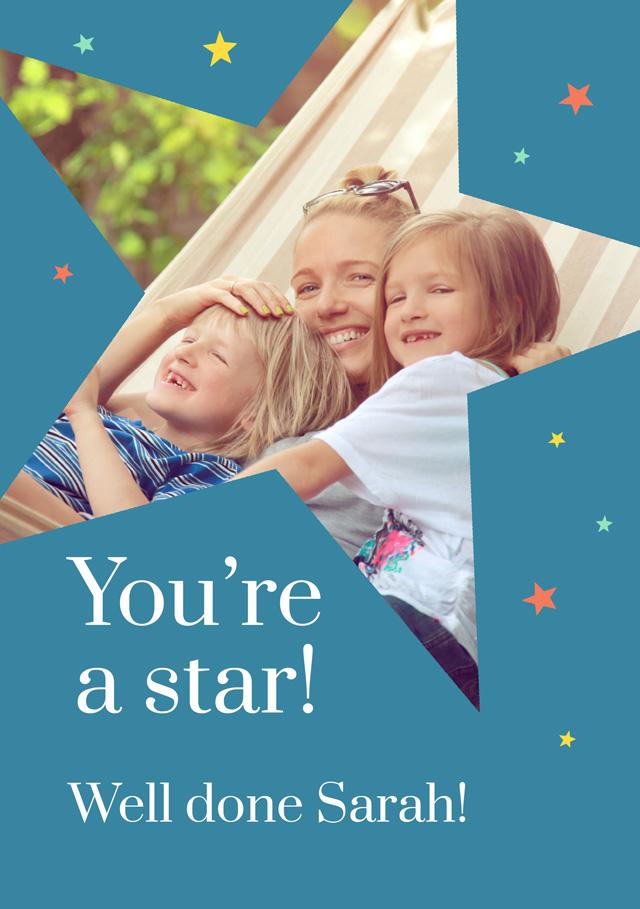 Create a You're A Star Photo Card