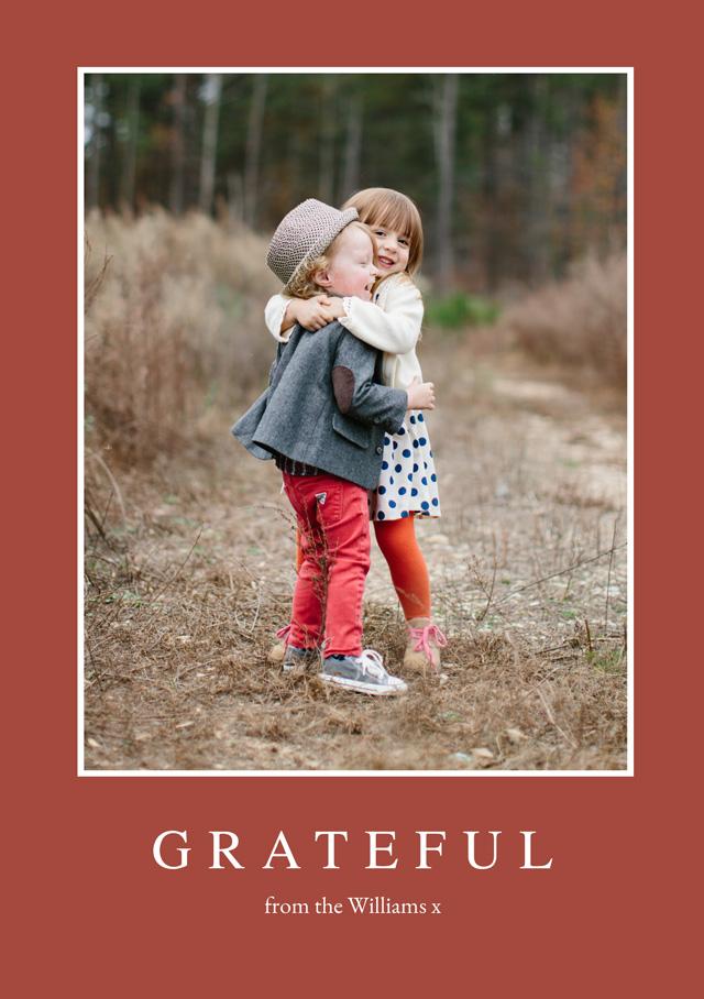 Portrait Thanksgiving Card Grateful