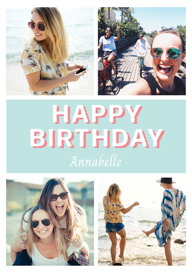Create a Photo Birthday Card Collage Seventies Style Photo Card