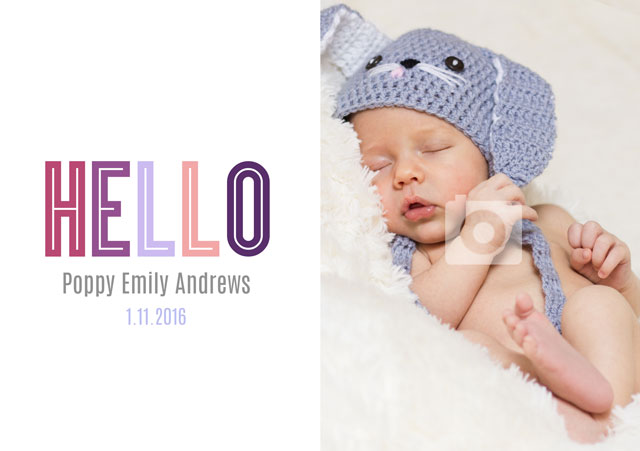 Create a Hello Baby  Greeting Card