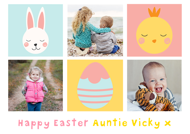 Create Photo Easter Card Collage Illustrations Card