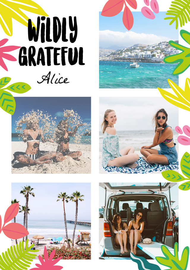 Create a Photo Thank You Card Collage Wild Portrait Photo Card