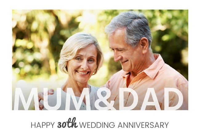 Create a Mum & Dad Anniversary  Greeting Card