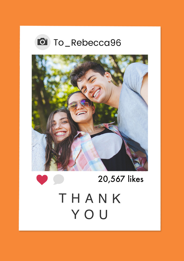 Create Photo Thank You Card Insta Card