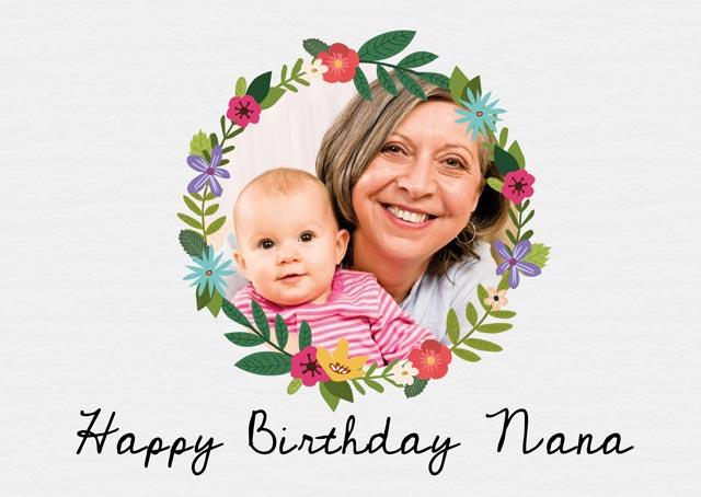 Create a Wreath Birthday Greeting Card