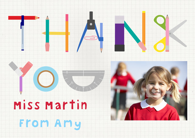 Photo Thank You Card Stationery