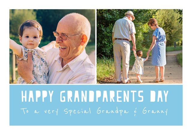 Create a Happy Grandparents Day Cut Out Text  Greeting Card