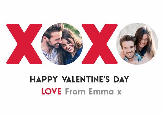 Create a Xoxo Greeting Card