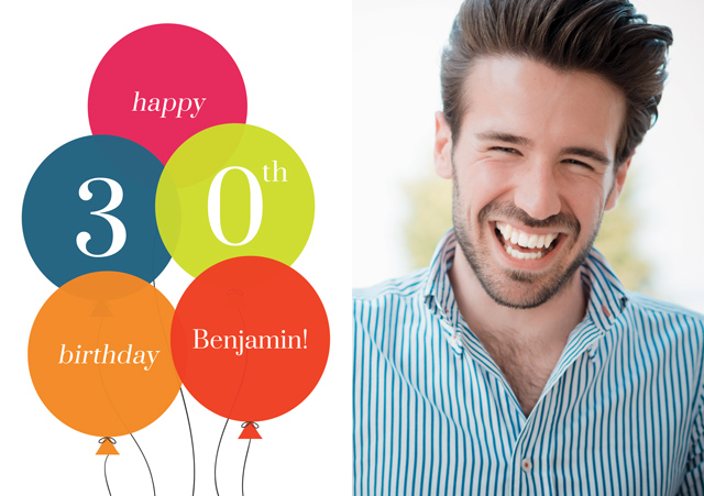 Create a Age Balloon 30 Greeting Card