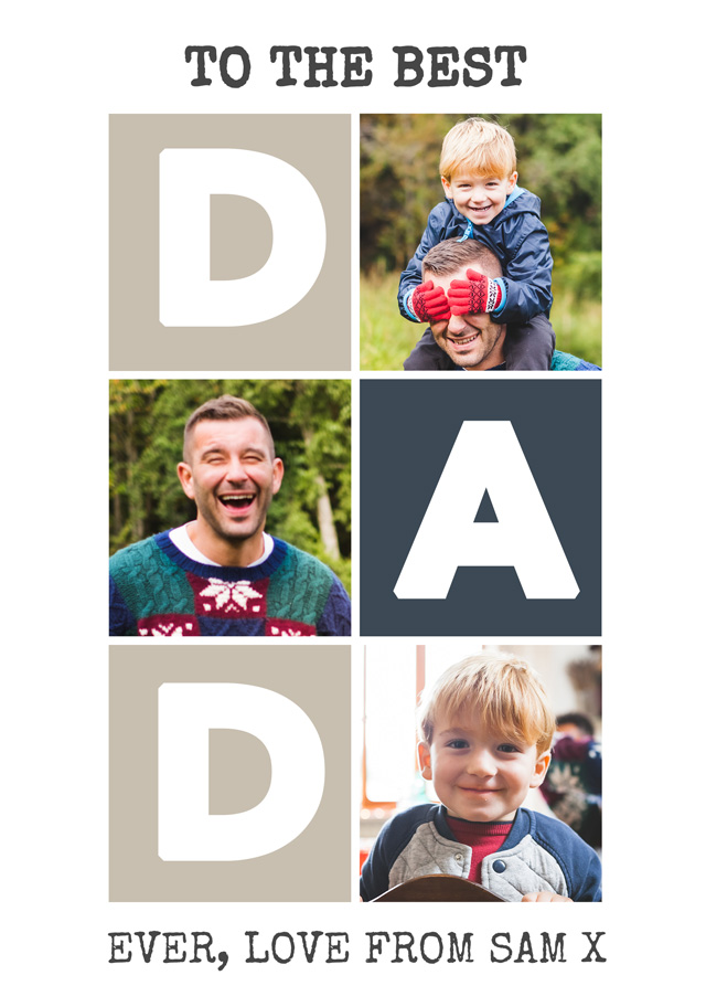 Create a Dad 3x Collage Greeting Card