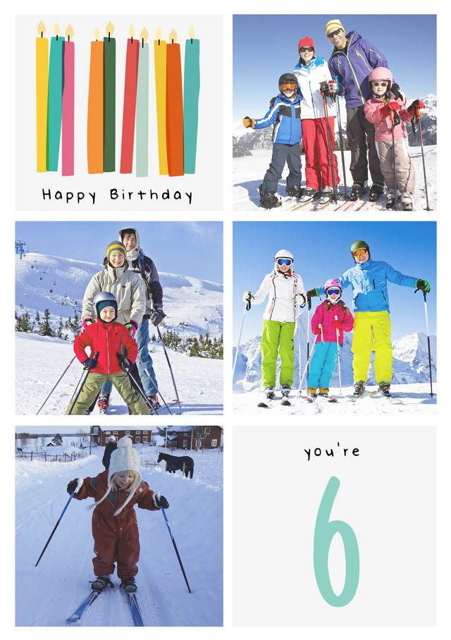 Create a Birthday Candle Collage Photo Card