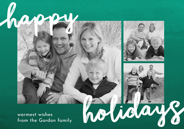 Create a Photo Christmas Card Collage Happy Holidays Photo Card