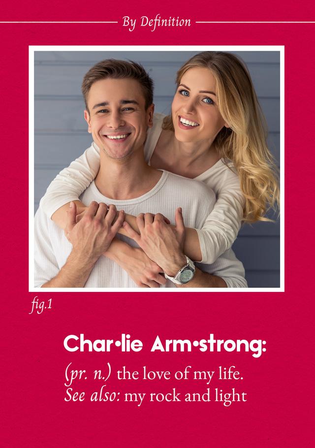 Create a Photo Card Love Definition Photo Card