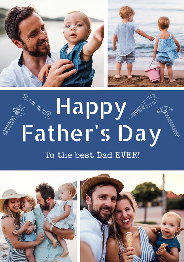 Create a Photo Father's Day Card Collage Diy Tools Photo Card