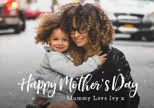 Create a Photo Overlay Mother's Day Greeting Card