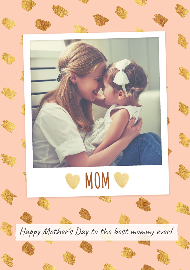 Create a Single Polaroid Usa Mother's Day Greeting Card
