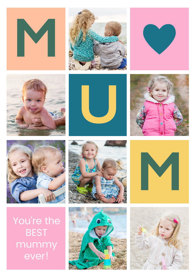 Create a Mum 7xcollage Photo Card