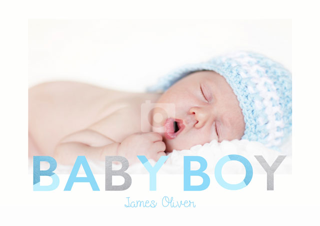 Create a Baby Boy  Greeting Card