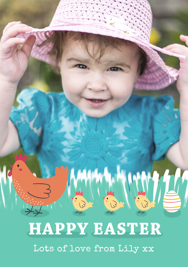 Create Photo Easter Card Chicks Card