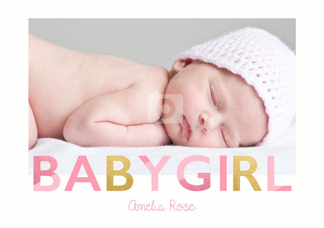 Create a Baby Girl  Greeting Card