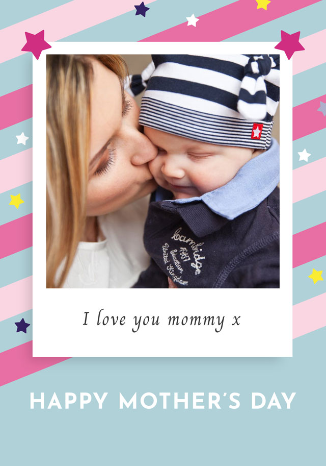 Create a Photo Mother's Day Card Retro Photo Card