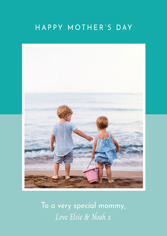 Create a Photo Mother's Day Card Two Tone Photo Card