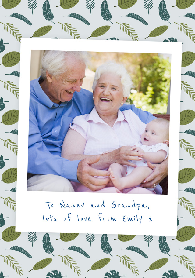 Create a Grandparents Day Polaroid Greeting Card