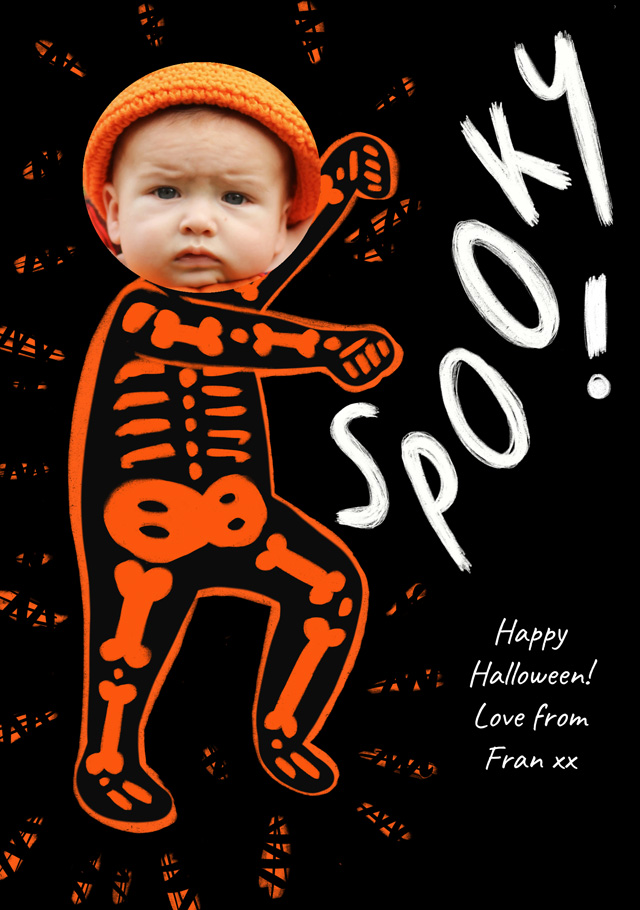 Create Skeleton Costume Card